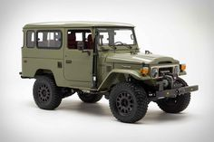 The FJ Company's Signature line of classic Toyota Land Cruisers leaves nothing to the imagination. Fully-appointed interiors, custom engine options, and a range of color. Toyota Land Cruiser, Black Chrome Wheels, Bow Jeans, New Defender, Ducati Scrambler, Ford News, Roll Cage, Jeep Gladiator, Aluminum Radiator