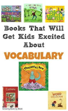 Vocabulary Books to excite kids to learn new words from growingbookbybook. Vocabulary Instruction, Teaching Vocabulary, Vocabulary Building, Vocabulary Activities, Reading Activities, Vocabulary Strategies, Academic Vocabulary, Vocabulary Parade, Vocabulary Journal