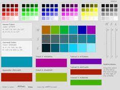 Resultado de imagen de colores pag web