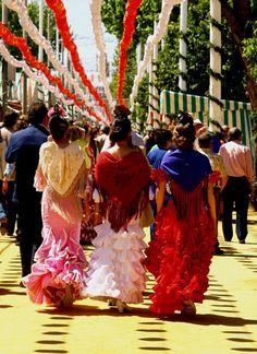 Feria de Sevilla !!! Guapíssimas ...