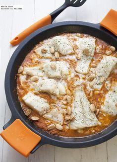 Bacalao con salsa de almendras. Receta