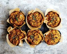 Vegan Herbed Black Quinoa Muffins from The Chalkboard. Savory, healthy breakfast for the holiday season.