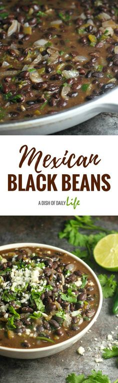 Easy and delicious, these restaurant quality Mexican black beans take almost no time to make! They're the perfect side dish for Mexican night!