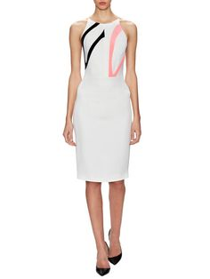Contrast Panel Detail Sheath Dress by Narciso Rodriguez at Gilt