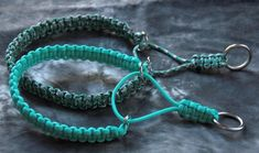 Best Paracord Martingale Check Collar Chain Free Dog Collars for sale in Beaufort, South Carolina for 2017 Diy Dog Collar, Collar And Leash, Paracord Dog Leash, Diy Collier, Collar Chain, Paracord Bracelets, Paracord Diy, Knot Bracelets, Survival Bracelets