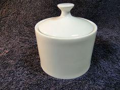 Sango  Elite White 8852 Sugar Bowl with Lid - Mint #Sango