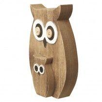 Wooden Owl Decor