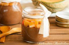 Chocolate mousse with melon  /  Шоколадов мус с пъпеш