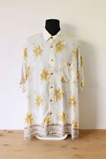 HAWAIIAN SHIRT mens floral tee HIPSTER trendy indie holiday button up 2XL big Vintage Men, Vintage Fashion, My Ebay, Hawaiian, Tees, Shirts, Indie, Hipster, Button