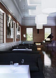 Restaurant design and café design in Bytom POLAND - archi group.  Restauracja i kawiarnia w Bytomiu.