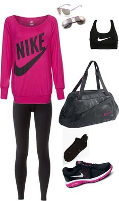"""nike fit"" by sgran on Polyvore"
