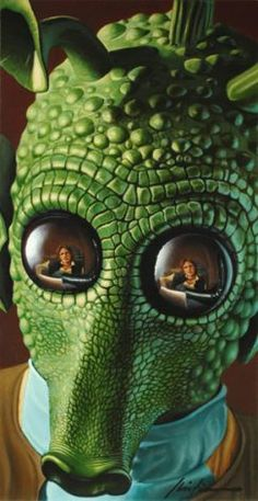When I was a kid, I always got excited when Greedo sat down with Han Solo. I don't know why but I just always loved that part.