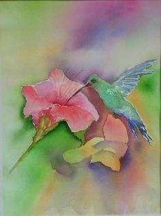 Kolibri/ Aquarell