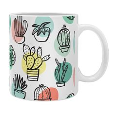 Zoe Wodarz Summer Days Cactus Coffee Mug | DENY Designs Home Accessories