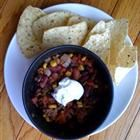 """Mexican Chocolate Chili recipe - Made this Spring 2012 for a Chili Cook-off.  I added finely chopped carrots instead of beef to make it vegetarian, but still have a """"chili"""" texture.  SWEET chili."""