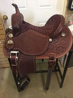 The most important role of equestrian clothing is for security Although horses can be trained they can be unforeseeable when provoked. Riders are susceptible while riding and handling horses, espec… Barrel Racing Saddles, Barrel Saddle, Barrel Racing Horses, Horse Saddles, Roping Saddles, Horse Halters, Equestrian Boots, Equestrian Outfits, Equestrian Style