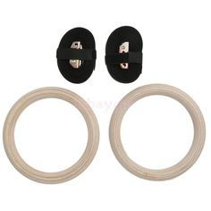 Wood Gymnastic Rings Adjustable Pair Olympic Gym Strength Fitness Training - http://sports.goshoppins.com/team-sports-equipment/wood-gymnastic-rings-adjustable-pair-olympic-gym-strength-fitness-training/