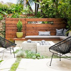 Turn a tiny, crumbling patio into an outdoor space for cozy get-togethers.