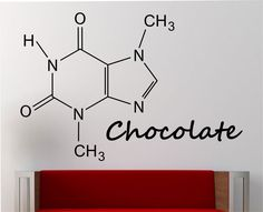 Chocolate Molecule Wall Decal Vinyl Sticker Art Decor Bedroom Design Mural education science educational geek nerd teach creative art by StateOfTheWall on Etsy https://www.etsy.com/listing/227998707/chocolate-molecule-wall-decal-vinyl