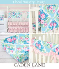 Caden Lane has the most gorgeous vintage floral baby bedding and accessories. Cutest website ever!