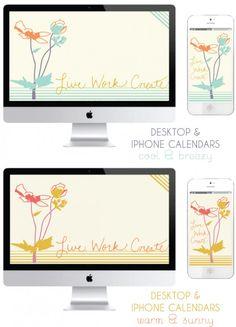 desktop + iphone backgrounds