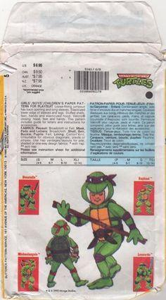 Butterick 5143 Teenage Mutant Ninja Turtles Costume Pattern Small ...