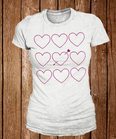 Urban Threads: Repeat this unique heart set of embroidery designs to get this trendy look on a tee