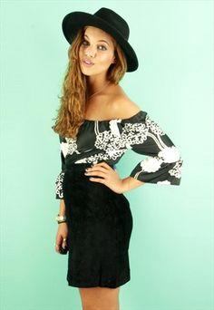 Vintage Black Suede Mini Skirt @asosmarketplace