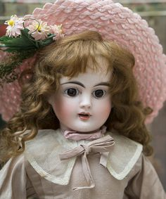 "16"" (41 cm.) Antique German Sonneberg Bisque Character Doll with from respectfulbear on Ruby Lane"