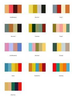 Our superbly stylish new Wes Anderson Colour Palettes. Browse through images of Wes Anderson Colour Palettes to create your perfect home. Warm Colour Palette, Modern Color Palette, Modern Color Schemes, American Honey, Wes Anderson Color Palette, Mid Century Modern Colors, Colour Board, Color Stories, Vintage Colors