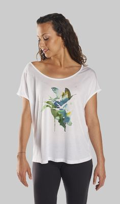 Promote your passion for our planet by wearing this ever-so-soft, eco-friendly yamas shirt. The 1st limb of the 8 limbs of yoga are the yamas.  They emphasize our connection to all living beings as an integral part of yoga—everything is interconnected.  The yamas remind us to be non-harmful, honest and compassionate to all. 10% of sales supports yoga for at-risk youth.  Together we can make a difference!