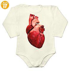 Realistic Huge Bloody Heart Baby Long Sleeve Romper Bodysuit Large - Baby bodys baby einteiler baby stampler (*Partner-Link)