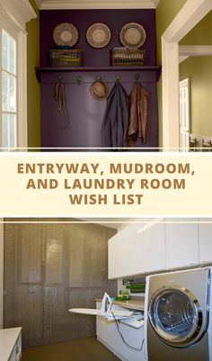 Entryway, Mudroom, and Laundry Room Wish List | Click and get a more complete explanation in the article.  #entryway #mudroom #laundryroom #roomdecorideas #homedecortips Exterior Design, Interior And Exterior, Slop Sink, Storing Books, Laundry Room Remodel, Folding Laundry, Minimalist Home Interior, Cubbies, Beautiful Kitchens