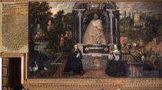 La Virgen de Almudena con los Reyes de España | Basilio De Santa Cruz Pumacallao : Archivo Digital de Arte Peruano