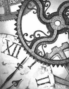 Geared Drawing  - Geared Fine Art Print