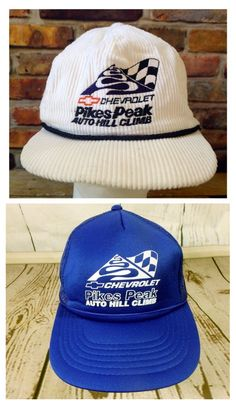 Seen many hats recently with this logo from the Pikes Peak Hill Climb race from the 1980s (May be reproductions? unsure)