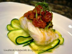 elegant fish dinners | Linda's Kitchen Lab: Cod with Roasted Baby Tomatoes, Garlic and Basil