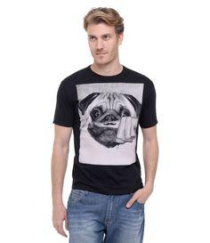 Camiseta Masculina com Estampa de Cachorro de Bigode - Lojas Renner