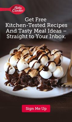 Sign up for Betty Crocker's email and get free recipes and the latest coupons sent straight to your inbox!