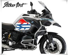 R1200GS LC ADV 2013-2016 Model GS Dakar Style Fuel Tank PVC Plastic Protector Cover Decal Sticker x 5 Style