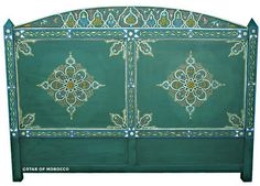 Moroccan headboard from Star Of Morocco.  Could be the star of a master bedroom.