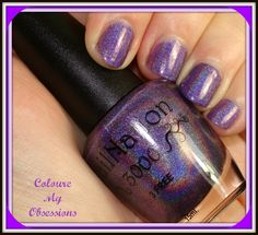 This is a polish made to help raise awareness of Chiari Surviors http://colouremyobsessions.blogspot.in/2014/10/chiari-survivors-rock-by-nailnation3000.html #colouremyobsessions #hpbloggers   #Obsessionista's #indies  #nailporn #bblogger #beautybloggers #beautyproducts #fashion #nails #swatches #beautyporn #holo #shifter #shifting #purple #Rainbowholo #color #coloure #nailnation3000 #nn3 #Nailnation3000 #nn3  lightbox without flash