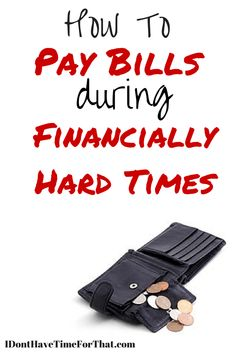 The economy has caught a lot of us off guard. It is stressful to try and figure out how to keep a roof over your head. For those who have fallen on hard times, here are some ideas about how to pay your bills.