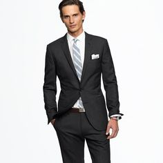 Two-button charcoal suit