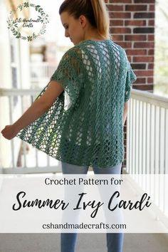 Crochet Patterns Summer Cardigan Ideas For 2019 Crochet Cardigan Pattern Free Women, Crochet Shawl, Knit Crochet, Ravelry Crochet, Kimono Pattern Free, Free Pattern, Crochet Shrugs, Sweater Patterns, Crochet For Kids