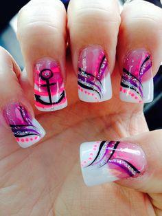 Glitter Toe Nails, Cute Acrylic Nails, Acrylic Nail Designs, Pink Nails, Nail Art Designs, Gel Nails, Gorgeous Nails, Pretty Nails, Feet Nail Design