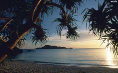 Tropical Beach Wallpaper Free Beautiful Tropical Pink Sunset 1920×1080 Tropical Wallpapers Free   Adorable Wallpapers
