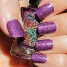 Too Fancy Lacquer Purple Spotted Heart (Holo Grail Box by Dazzled - December 2014 - The Grinch Who Stole Christmas)