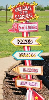 which way to the booths? tattoo, kissing, games, treats, pizes. yes. CARNIVAL party