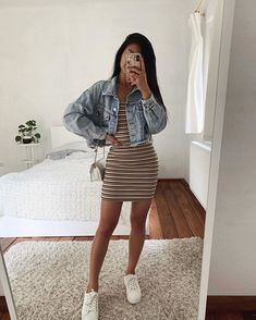 Source by AlysonVillena Outfits verano Casual School Outfits, Cute Comfy Outfits, Teen Fashion Outfits, Cute Summer Outfits, Look Fashion, Pretty Outfits, Stylish Outfits, Spring Outfits, Girl Outfits